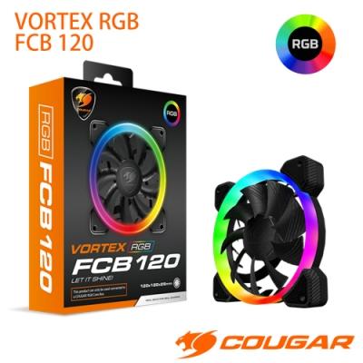 COUGAR 美洲獅 VORTEX 三向環狀RGB FCB 120  散熱風扇 (單入)