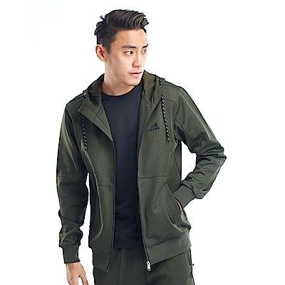 【ZEPRO】男子幾何視覺休閒外套-軍綠