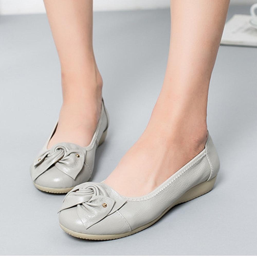 【LN】 現貨 典雅軟底真皮豆豆鞋(娃娃鞋/休閒鞋)