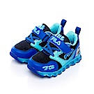 FILA KIDS小童電燈TPR慢跑鞋-黑藍 7-J852S-303