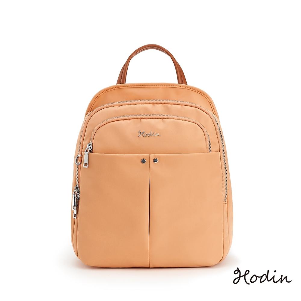 【Hodin】Air多功能防盜後背包(粉橘色151037OG)