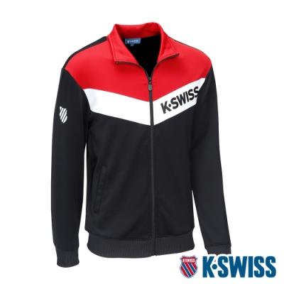 K-SWISS V Shape Panel Jacket運動外套-男-黑