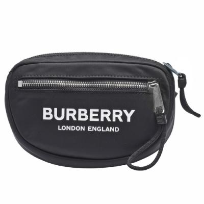 BURBERRY CANNON經典字母LOGO尼龍拉鍊腰包(黑)