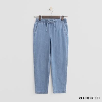 Hang Ten - 女裝 -鬆緊抽繩棉質九分褲 - 藍