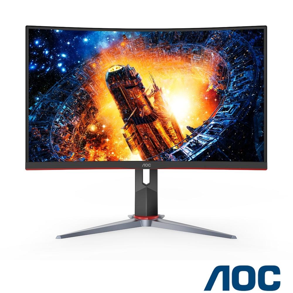 AOC C24G2 24型 1500R曲面電競螢幕HDR 165Hz 極速 1ms