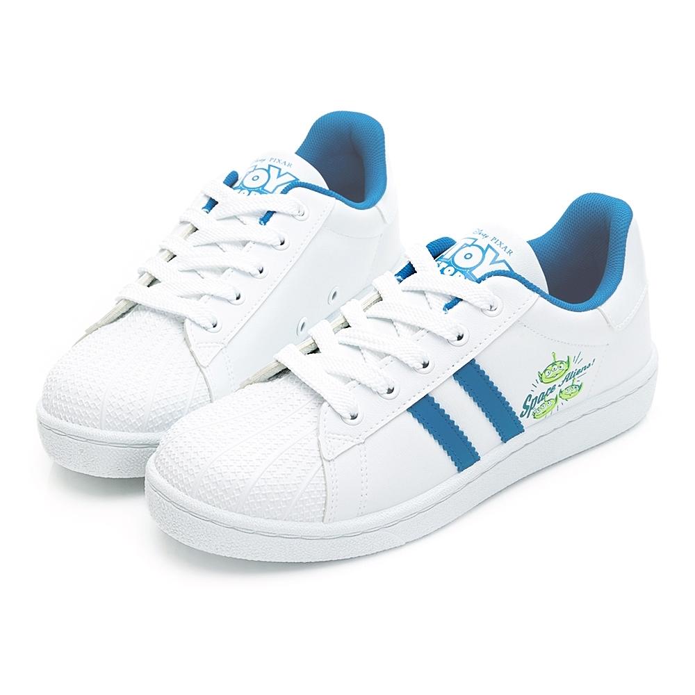 DISNEY三眼怪條紋貝殼小白鞋-白藍-DW61111F