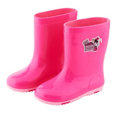 迪士尼童鞋 米妮 趣味造型中筒雨鞋-桃