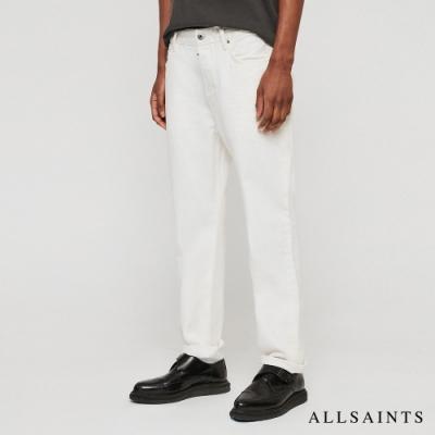 ALLSAINTS RIDGE 修身直筒純棉牛仔褲-白