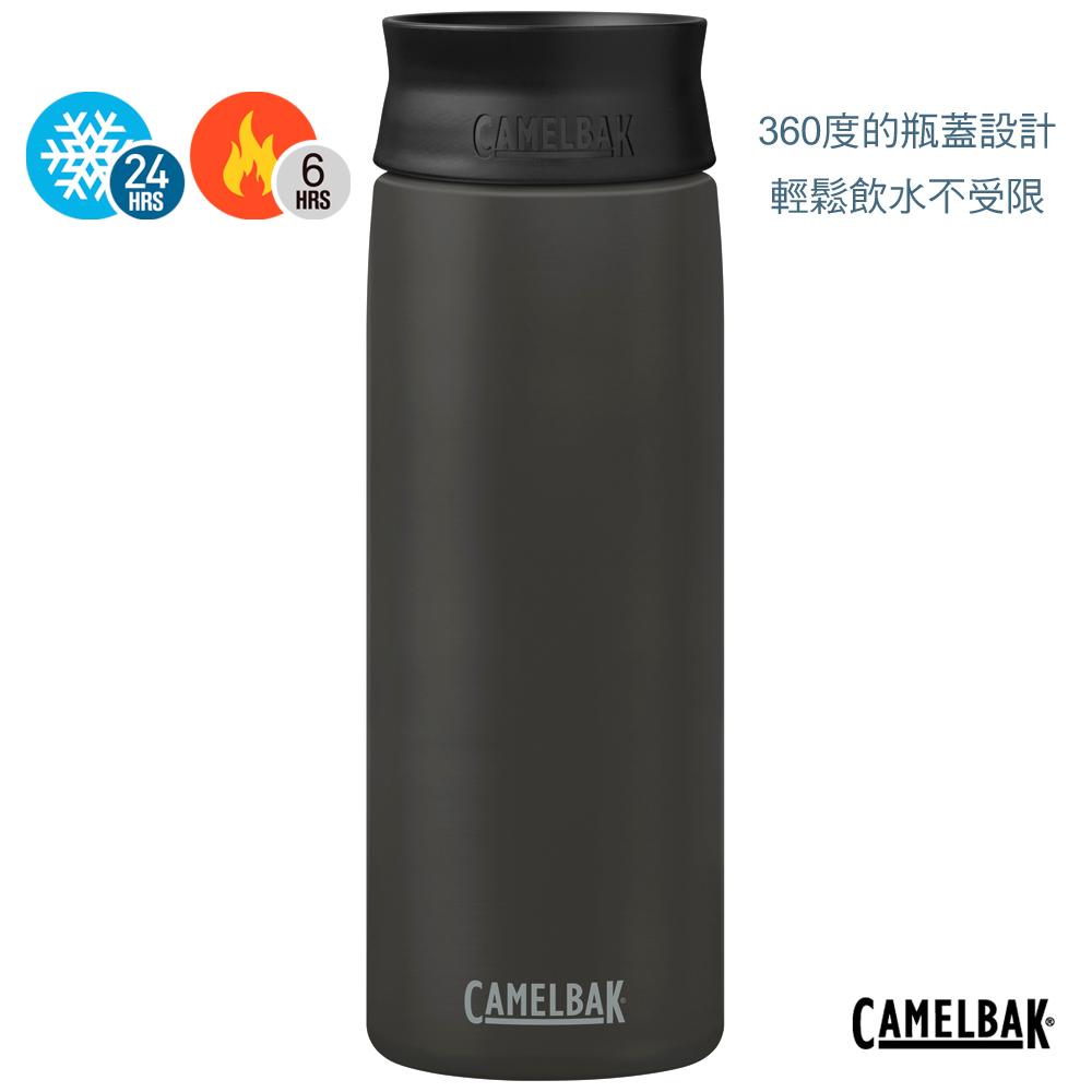 【美國 CamelBak】600ml Hot Cap 360° 保冰/溫隨行杯 黑