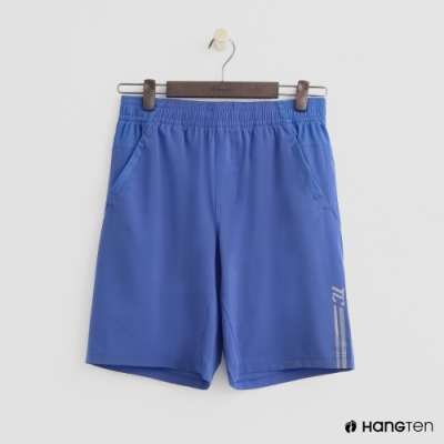Hang Ten - 男裝 - ThermoContro-彈性鬆緊五分褲 - 藍