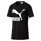 PUMA-男性流行系列No.1 Logo短袖T恤-黑色-亞規