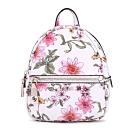 GUESS-女包-滿版花卉圖騰小型後背包-白