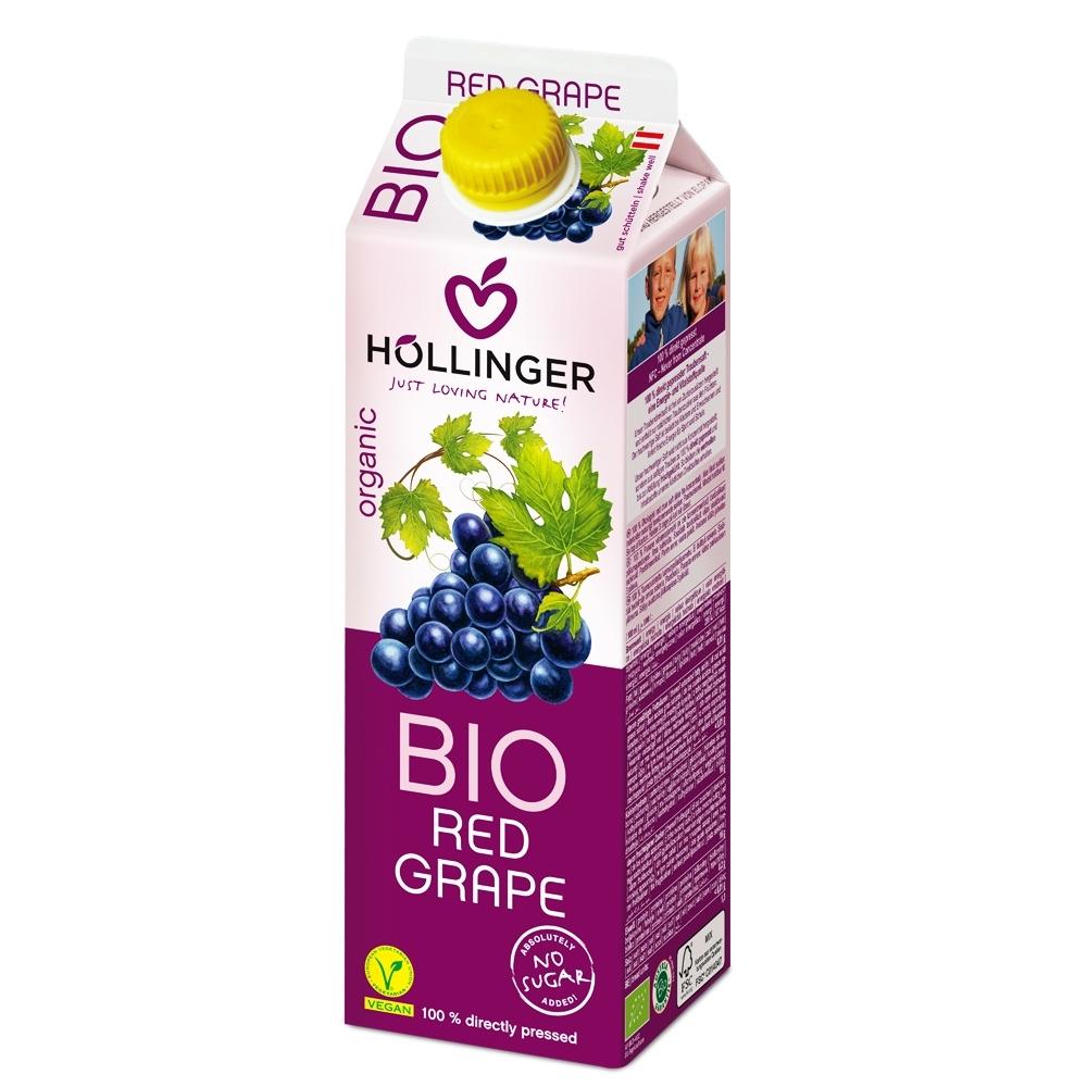 HOLLINGER 荷林阿爾卑斯有機鮮榨紅葡萄汁 (1000ml/盒)