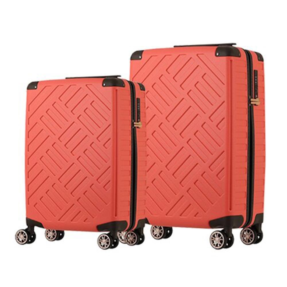日本LEGEND WALKER 5204 24吋+28吋PP輕量行李箱 珊瑚橘