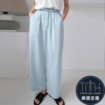 韓國空運 輕薄軟質料直筒褲-TMH