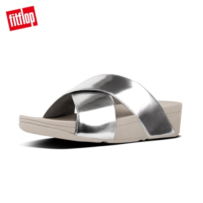 FitFlop LULU CROSS SLIDE SANDALS 鏡面銀