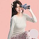 嬪婷-小童120.140 內搭圓領長袖(粉)有機棉-環保素材-吸濕透氣