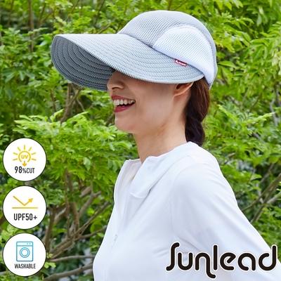 Sunlead 超輕量。涼感透氣吸水速乾CoolPass防曬帽/遮陽帽 (淺銀灰)
