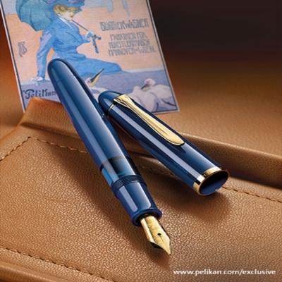 德國PELIKAN百利金 特別版M120 lconic經典藍鋼筆