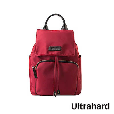 Ultrahard 防潑尼龍後背包(紅)