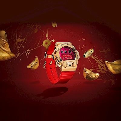 CASIO卡西歐 G-SHOCK 全金屬外殼 紅金 牛年限定 新年節慶款 GM-6900CX-4_49.7mm