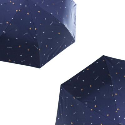 (二入組)城市雨CTRain 蛋捲系列 黑膠抗UV抗強風晴雨傘