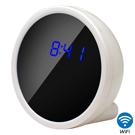 【CHICHIAU】WIFI無線網路高清1080P白色電子鐘-針孔微型攝影機+影音記錄
