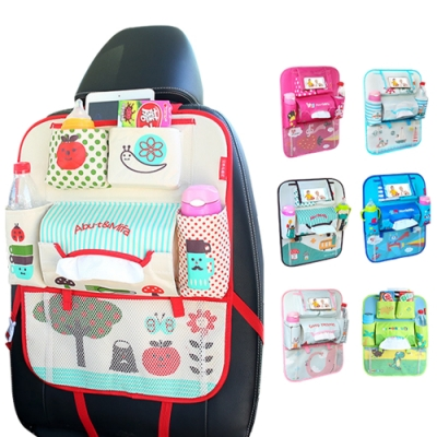 colorland 第三代車用椅背收納袋可放手機+平板 置物袋汽車雜物