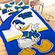 享夢城堡 單人床包枕套3.5x6.2二件組-迪士尼唐老鴨Donald Duck 經典-藍 product thumbnail 1