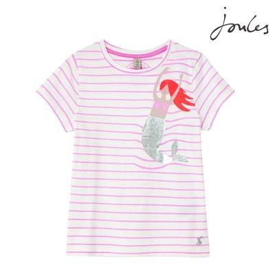 英國【Joules】Pixie條紋美人魚短袖上衣
