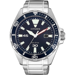 CITIZEN 星辰 光動能運動風手錶-藍x銀/43.5mm(BM7450-81L)