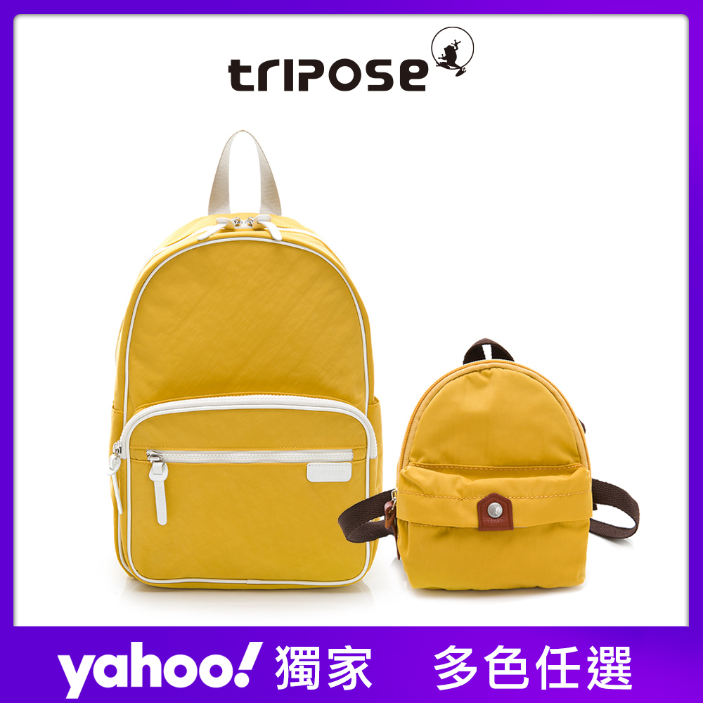 tripose PIPE系列滾邊後背包+輕量尼龍防潑水寵物背包 -多色任選