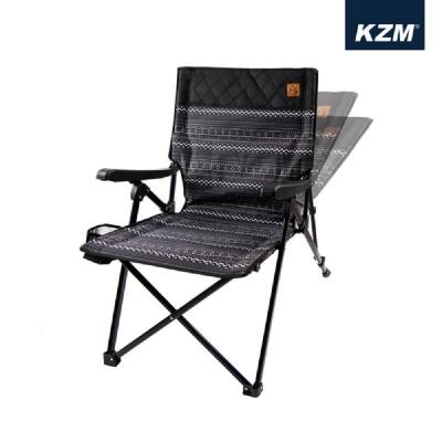 KAZMI 彩繪民族風三段可調折疊椅 黑 K20T1C002BK