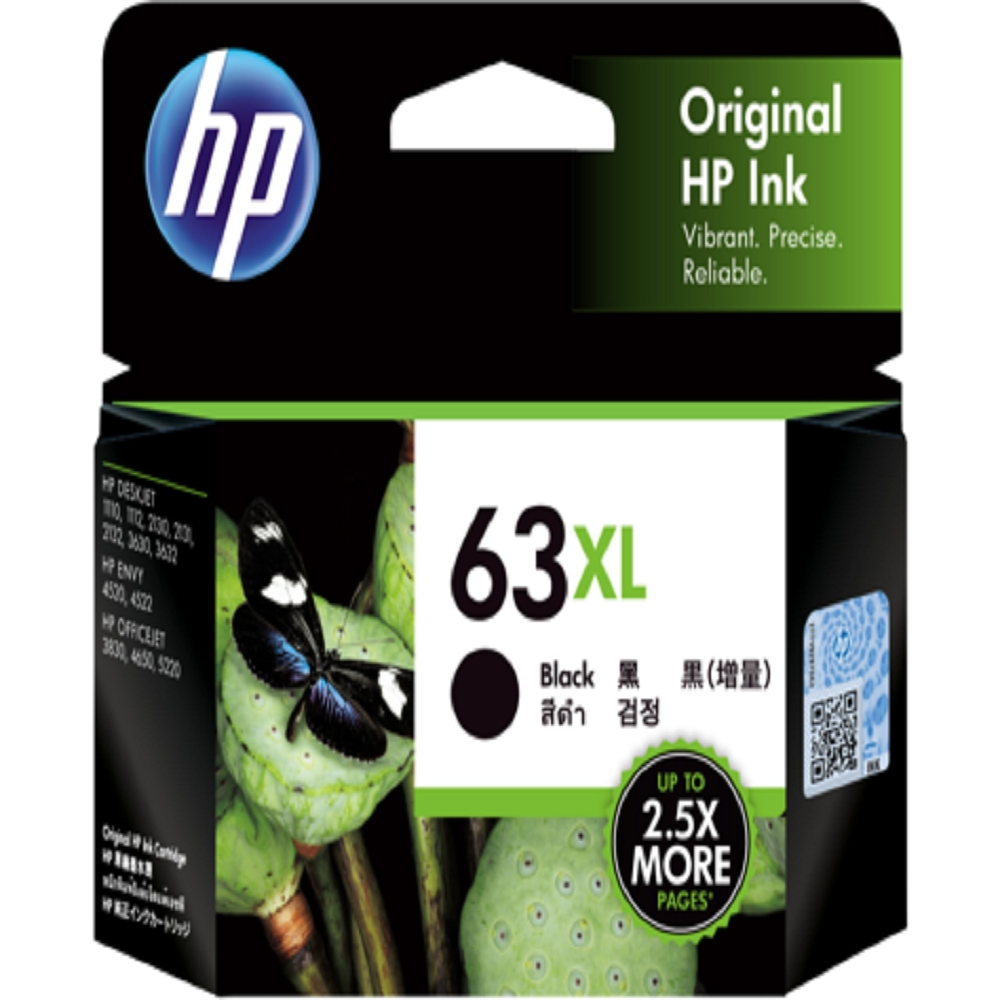 HP F6U64AA 原廠黑色高容墨水匣 NO:63XL