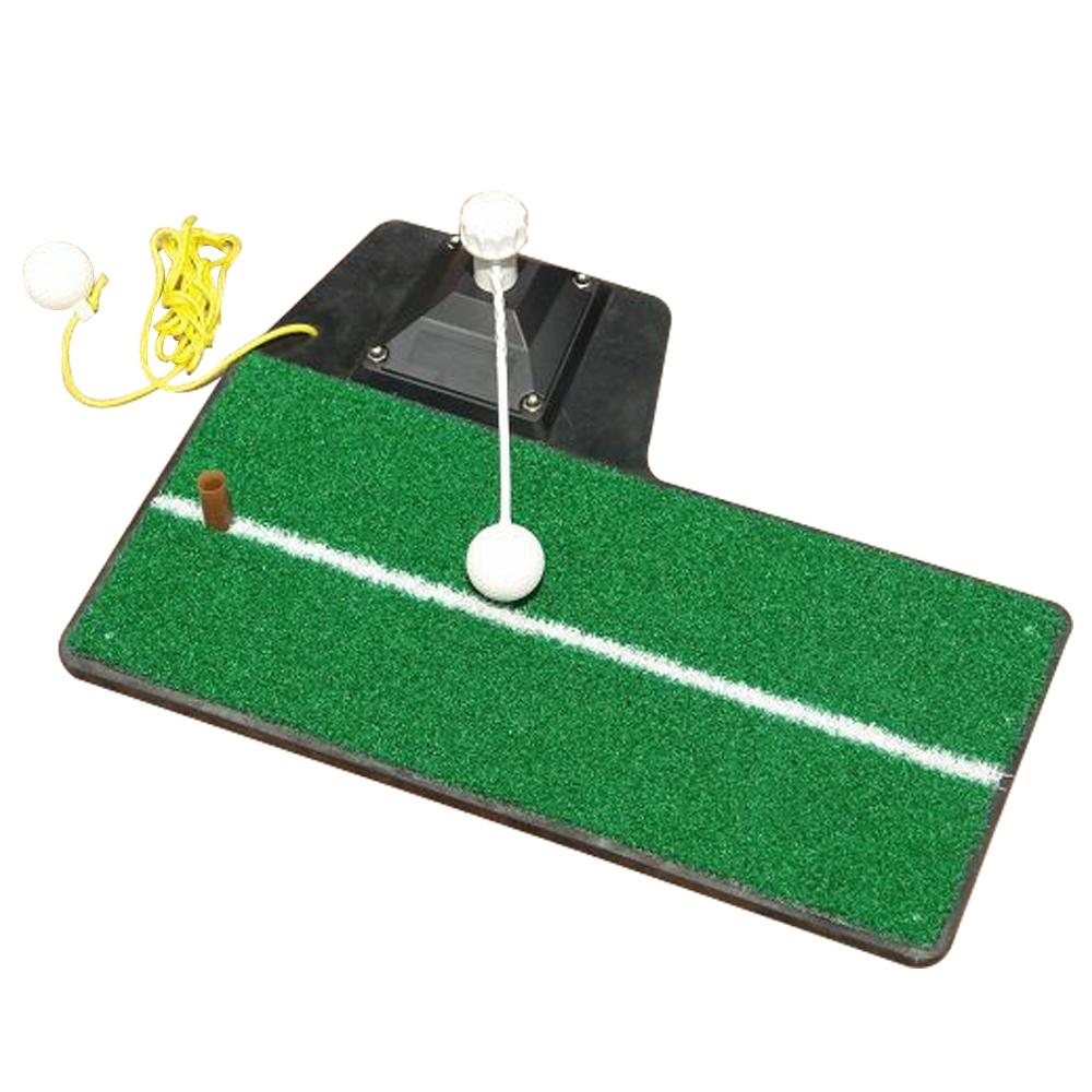 GOLF高爾夫球室內揮桿練習器組.室內外多功能草皮切桿打擊墊練習毯鐵木桿適用附球tee線球