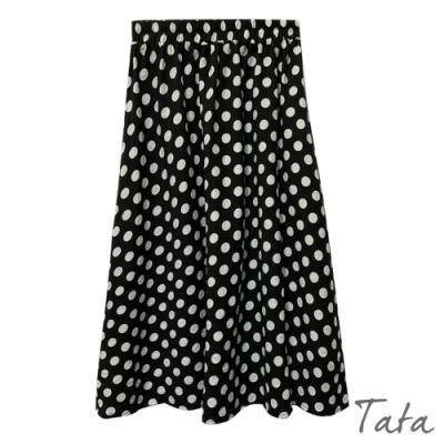 波點鬆緊腰半身裙 TATA-F(適合S-小L)