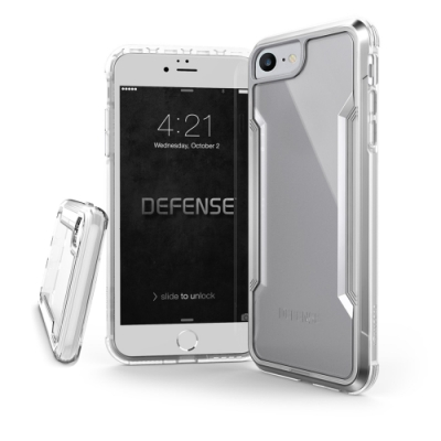 DEFENSE 刀鋒極盾II iPhone SE 2020/SE2 耐撞擊防摔手機殼(清透銀)