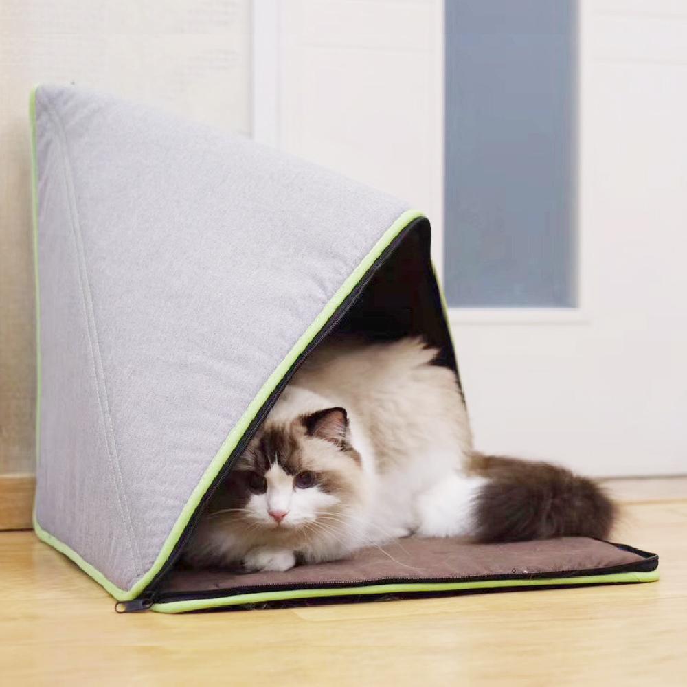 Crazypaws瘋狂爪子 K.1寵物傢俱兜兜公主-棉麻混紡 多款變化摺疊寵物窩/寵物床