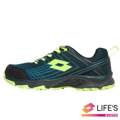 LOTTO 義大利 男 JOURNEY越野跑鞋 (藍綠)