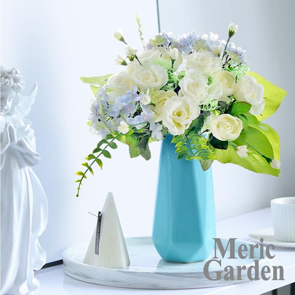 【Meric Garden】仿真唯美玫瑰繡球花束