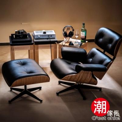 C est Chic_Eames Lounge Chair & Ottoman 牛皮復刻版