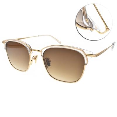 NINE ACCORD太陽眼鏡  潮流眉框設計款/透明金-漸層棕 #CARDINAL LARA C4
