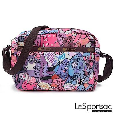 LeSportsac Standard側背隨身包紫色童話