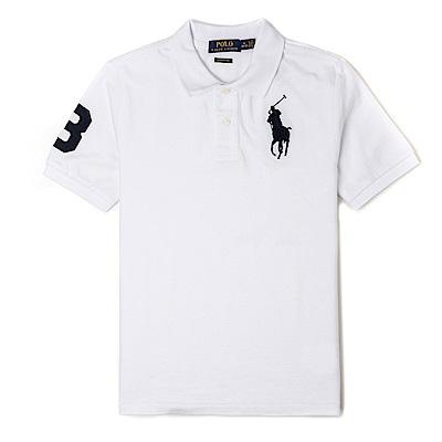 Polo Ralph Lauren 經典刺繡大馬Polo衫(青年款)-白色