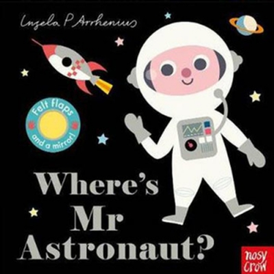 Where s Mr Astronaut?太空人在哪裡?不織布翻翻書