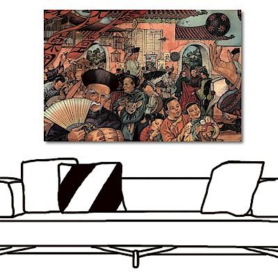 24mama掛畫 單聯式橫幅掛畫無框畫-古人60x40cm