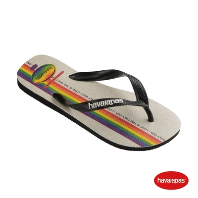 Havaianas哈瓦仕 拖鞋 平權系列 夾腳拖鞋 巴西 男鞋 女鞋 黑 4146673-1069U TOP PRIDE