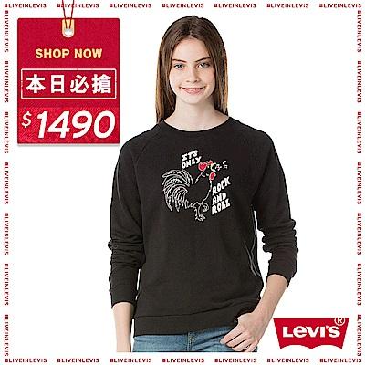 Levis 圓領大學T 女裝 搖滾公雞