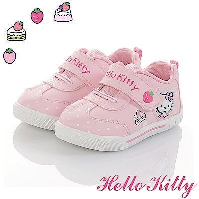 HelloKitty童鞋 草莓蛋糕系列 輕量減壓抗菌防臭休閒鞋-粉
