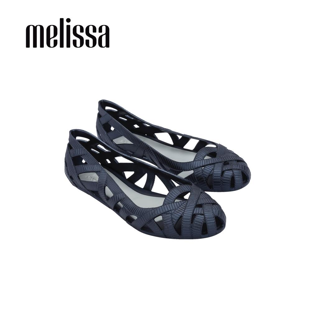 Melissa x Jason Wu 吳季剛聯名 簍空平底鞋-深藍